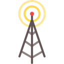 electrical, technology, Wireless Connectivity, Wifi Signal, Wireless Internet, Radio Antenna Black icon