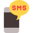 smartphone, technology, speech bubble, mobile phone, cellphone, Speech Balloon SandyBrown icon