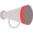 shout, protest, announcer, Megaphones, announcement, loudspeaker Black icon