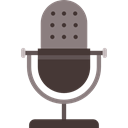 Message, radio, technology, mic, vintage, Voice Recorder, Microphones Black icon