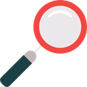 search engine, zoom, detective, Searching, magnifying glass Black icon