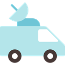 antenna, transport, vehicle, Satellite, Automobile, Parabolic, Communications PowderBlue icon