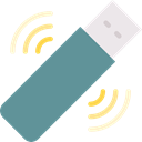Connection, technology, Communications, Pendrive, Wireless Connectivity, Wifi Signal, Wireless Internet CadetBlue icon