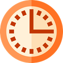 Clock, time, watch, tool, square, Tools And Utensils, Business And Finance PapayaWhip icon