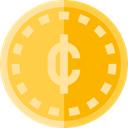 Business, Business And Finance, Money, coin, Cash, Currency SandyBrown icon