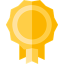 Business And Finance, award, medal, Badge, Emblem, reward, insignia, Sports And Competition SandyBrown icon