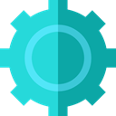 settings, configuration, cogwheel, Tools And Utensils, Gear, Business And Finance Turquoise icon