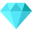 diamond, jewel, Diamonds, Jewelry, fashion, luxury, wealth, Glamour, Precious Stone, Business And Finance Turquoise icon
