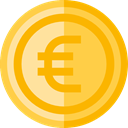 Euro, Business, Money, coin, Cash, Currency, Business And Finance SandyBrown icon