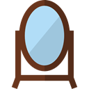 Beauty, Mirror, Tools And Utensils, Grooming, Beauty Salon, Furniture And Household SaddleBrown icon
