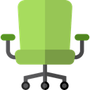 Seat, Tools And Utensils, Comfortable, Furniture And Household, Chair, Comfort, office chair YellowGreen icon