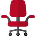 miscellaneous, Seat, Chair, buildings, sitting, office chair, Desk Chair, Furniture And Household Firebrick icon