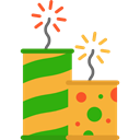 party, Rocket, Fireworks, Celebration, Birthday And Party Goldenrod icon