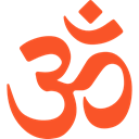 lotus, religious, signs, meditation, hinduism, Cultures, Om, oriental, Asian, religion, indian, Yoga Tomato icon