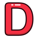 Letter, red, d, Alphabet, letters Crimson icon