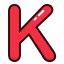 red, K, Alphabet, Letter, letters Icon