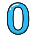 Blue, numbers, number, zero, study Icon