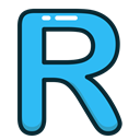 r, letters, Blue, Letter, Alphabet DodgerBlue icon