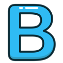 Letter, B, Alphabet, Blue, letters Icon