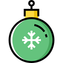 christmas, ornament, xmas, decoration, bauble MediumSeaGreen icon