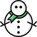 Snow, christmas, winter, snowman, Cold Black icon