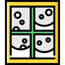 window, weather, Snow, christmas, winter, Cold, Frost, meteorology, snowing, Furniture And Household Gainsboro icon