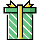 birthday, gift, present, surprise, Christmas Presents, Birthday And Party MediumSeaGreen icon