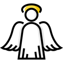 Angel, Christianity, religion, christian, people, christmas, religious, wings Black icon
