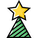 star, christmas, decoration, Christmas tree, Adornment Black icon