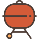 bbq, grill, Barbecue, Summertime, Cooking Equipment, Food And Restaurant Chocolate icon