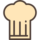 hat, food, kitchen, Chef, Cooker, Cooking, fashion, Chef Hat, Food And Restaurant Moccasin icon