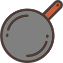 food, fire, Pan, Cook, hot, Cooking, Frying Pan, Frying, Food And Restaurant Gray icon