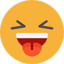 feelings, Smileys, laughing, emoticons, Emoji Goldenrod icon