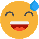 happy, emoticons, Emoji, feelings, Smileys Goldenrod icon