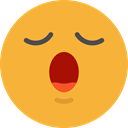 emoticons, Emoji, feelings, bored, Smileys Goldenrod icon