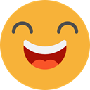 emoticons, Emoji, feelings, Smileys, happy, laughing Goldenrod icon