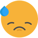 feelings, Smileys, Embarrassed, emoticons, Emoji Goldenrod icon