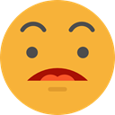 Emoji, feelings, Smileys, surprised, emoticons Goldenrod icon