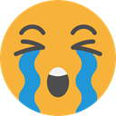 Crying, emoticons, Emoji, feelings, Smileys Goldenrod icon