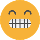 Smart, emoticons, Emoji, feelings, Smileys Goldenrod icon