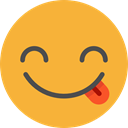 Emoji, feelings, Smileys, tongue, emoticons Goldenrod icon