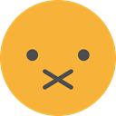 muted, emoticons, Emoji, feelings, Smileys Goldenrod icon