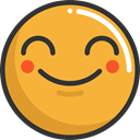 emoticons, Emoji, feelings, Smileys, happy Goldenrod icon