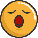 Smileys, emoticons, Emoji, feelings, bored Goldenrod icon