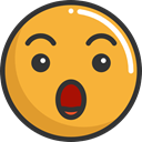 emoticons, Emoji, feelings, Smileys, surprised Icon