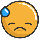 Emoji, feelings, Smileys, Embarrassed, emoticons Goldenrod icon
