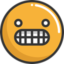 emoticons, Emoji, feelings, Smileys, Angry Goldenrod icon