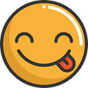 tongue, emoticons, Emoji, feelings, Smileys Goldenrod icon