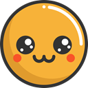 cute, emoticons, Emoji, feelings, Smileys Goldenrod icon