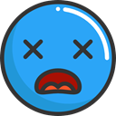 Emoji, shocked, feelings, Smileys, emoticons DodgerBlue icon